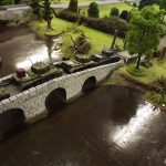 Over the old town bridge, advance quickly.
